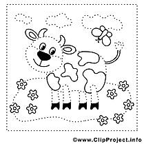 Vache clip arts – Peinture à numéros à imprimer