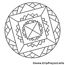 Clip art gratuit mandalas à imprimer