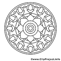 Coloriage mandalas illustration à télécharger