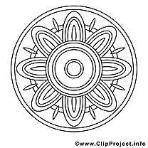 Mandalas à colorier dessin gratuit