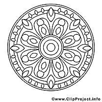 Mandalas dessin gratuits à imprimer