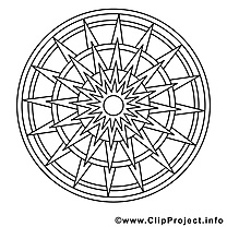 Mandalas illustration à imprimer