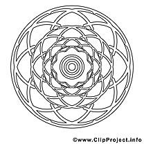 Mandalas image à télécharger à colorier