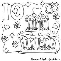 10 ans dessin – Mariage gratuits à imprimer