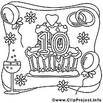 10 ans image – Mariage images à colorier