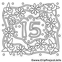 15 ans image gratuite – Mariage à imprimer
