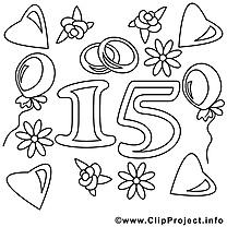 15 ans images – Mariage gratuits à imprimer