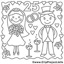 25 ans illustration – Mariage à imprimer