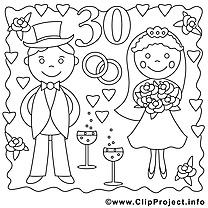 30 ans illustration – Mariage à imprimer