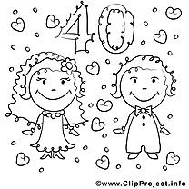 40 ans cliparts gratuis – Mariage à imprimer