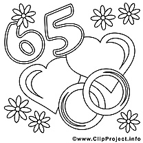 65 ans image – Coloriage mariage illustration