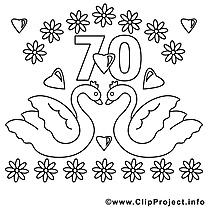 70 ans clip arts – Mariage à imprimer