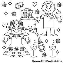 Anniversaire de mariage à imprimer clip art gratuit