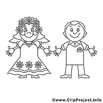 Couple marié illustration – Mariage à imprimer