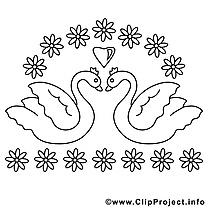 Cygnes images – Mariage gratuit à imprimer
