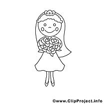 Épouse dessins gratuits – Mariage à colorier