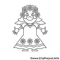 Épouse illustration – Mariage à colorier