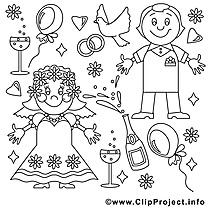 Noces cliparts gratuis – Mariage à imprimer