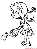 Arrosoir dessin – Coloriage maternelle à télécharger