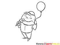 Ballon image gratuite – Maternelle à colorier