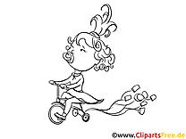 Bicyclette illustration – Maternelle à imprimer