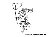 Épuisette images gratuites – Maternelle à colorier