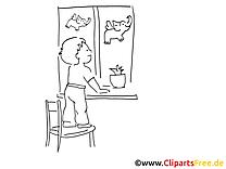 Fenêtre clip arts – Maternelle à imprimer