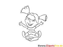 Fille dessins gratuits – Maternelle à colorier