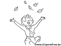 Garçon image – Coloriage maternelle illustration