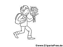 Rentrée clipart – Maternelle dessins à colorier