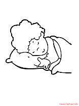 Sommeil dessin – Maternelle gratuits à imprimer