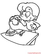 Table image à télécharger – Maternelle à colorier