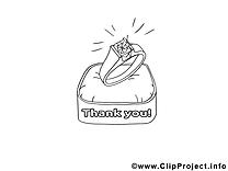 Anneau dessin gratuit – Merci à colorier