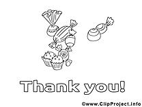 Bonbons image à télécharger – Merci à colorier