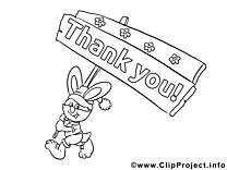 Carte clip art gratuit – Merci à imprimer
