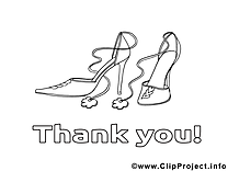 Chaussures illustration – Merci à colorier