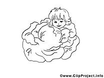 Chou illustration – Merci à imprimer