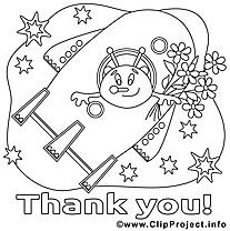 Cosmos dessin – Merci gratuits à imprimer
