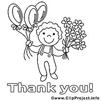 Enfant images – Merci gratuits à imprimer