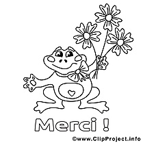 Grenouille image – Coloriage merci illustration