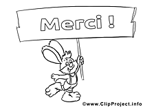 Merci à colorier dessins gratuits