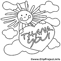 Soleil dessin à télécharger – Merci à colorier