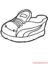 Chaussure de sport oloriage