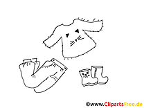 Enfants image – Coloriage mode illustration