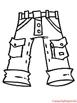 Jean coloriage
