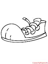 Les chaussures de sport coloriage