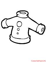Manteau coloriage