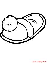 Pantoufle coloriage