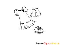 Petite fille dessins gratuits – Mode à colorier