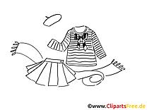 Vêtement clip arts – Mode à imprimer